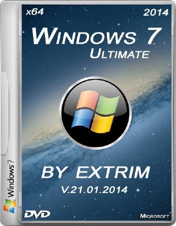 Windows 7 SP1 Ultimate x64 v.5 by extrim (2014/RUS)