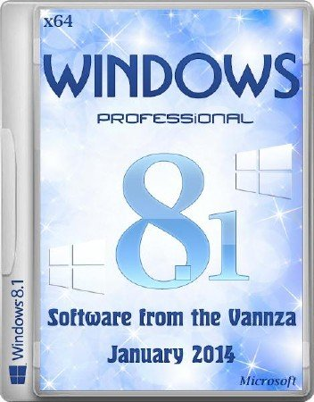 Windows 8.1 Pro January Software from the Vannza (x64/RUS/2014)